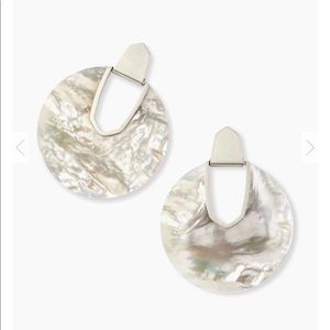 Diane Gold Statement Earrings in Ivory Pearl